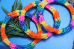 Rainbow Bracelets  Crochet Bracelets  by TwoFeathersJewelry, $12.00