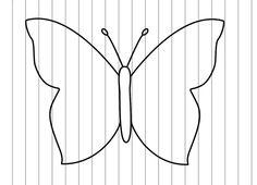 vlinder in regenboogkleuren knutselen