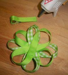 diy flower bow-no sew