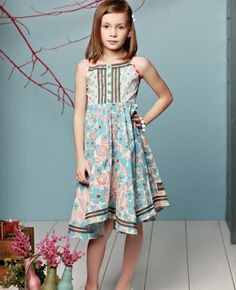 """Our girl loves this dress so comfy and twirly one reason we bought it was she loved the name """"Days of Summer dress"""" since my name is Summer she loved it!  Such a fun dress!! #matildajaneclothing #MJCdreamcloset"""