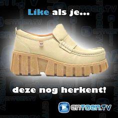 Hoeveel van jullie herkennen deze plateauschoenen nog?  #jeugdsentiment #nostalgie #schoenen #90s