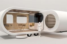 Design firm W2 has created the Romotow, a convertible mobile home that pops out to create a...