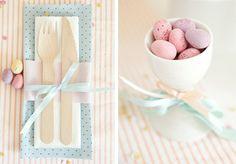 Una fiesta de pascua con huevos de chocolate