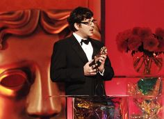 Back in the day. Winning a BAFTA for Skins Titles.