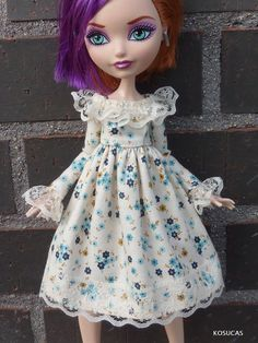 Dress for Ever After High dolls. por Kosucas en Etsy