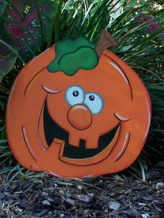 Halloween Jack-o-Lantern Face, Exterior wood, Yard Art by beatrice