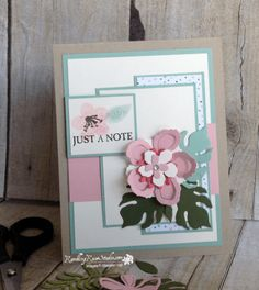 handmade card from Rambling Rose Studio by Billie Moan . Stampin' Up! Stamping Up Cards, Pretty Cards, Card Sketches, Flower Cards, Greeting Cards Handmade, Homemade Cards, Note Cards, Making Ideas, Birthday Cards