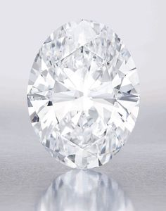 A 118-carat white diamond at Sotheby's  On October 7, all eyes will be on Sotheby's Hong Kong as the latest celebrity jewel, a 118.28-carat diamond discovered in South Africa, will hit the auction block. The only thing to rival the gem's original 299 carat-size is its value, currently set between $28 and $35 million. As for the winning bid, given the diamond's pure white color, only the sky seems to be the limit.