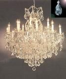 Maria Theresa Crystal Chandelier Lighting Chandeliers Dressed with Diamond Cut Crystal! H W - Finish: Matte Silver - Maria Theresa Crystal Chandelier Lighting Chandel Chandelier Design, Crystal Chandelier Lighting, Chandelier Lamp, Ceiling Lamp, Ceiling Lights, Crystal Lights, Crystal Sconce, Drop Lights, Chandelier Ideas
