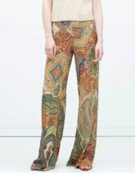 Stylish Low-Waisted Printed Wide Leg Women's Exumas Pants