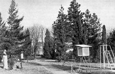 NYME Botanikus Kert: Régi képek a Botanikus Kertről A volt katonai főreáliskola sporttere 1968-ban