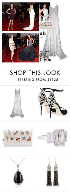 """Attending the 2009 MET Gala"" by americanroyalty ❤ liked on Polyvore featuring Roberto Cavalli, GALA, Dolce&Gabbana, Alexander McQueen, Fantasia by DeSerio, Kobelli and Sanjay Kasliwal"