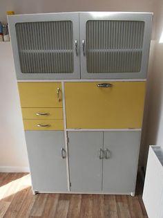 Retro Hygena kitchen larder cupboard kitchenette unit vintage original paint
