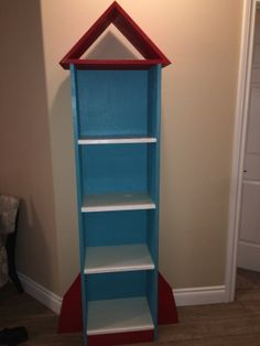 13 best rocket book case images on pinterest bookshelves book rocket ship bookcase do it yourself home projects from ana white solutioingenieria Images