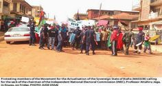 mekinson: BREAKING: Massive protest in Enugu over National A...