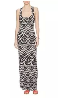 NWT T-BAGS LOS ANGELES T-BACK MAXI DRESS, BLACK & CREAM, SIZE LARGE  | eBay  #ebay #forsale #tbags