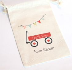 LITTLE RED WAGON  Custom Favor bags  Set of by foryourlittlemonkey, $18.00