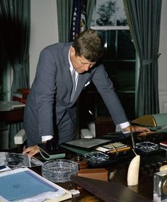 John F Kennedy - Kennedy during the Cuban missile crisis.