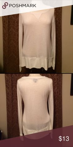 Mossimo Cream Sheer Sweater Sz M Mossimo Cream/Ivory Sheer long sweater - size medium. In excellent condition. Mossimo Supply Co Sweaters Crew & Scoop Necks
