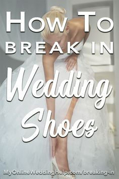 How to break in wedding shoes. Among all the different wedding ideas out there, don't forget your comfort! Shoe comfort should be part of your wedding planning. Tips for making new wedding heels more pliable, without ruining them or your feet. Wedding Planning Tips, Wedding Tips, Trendy Wedding, Perfect Wedding, Wedding Day, Lace Wedding, Wedding Details, Sparkly Wedding Shoes, Wedding Heels