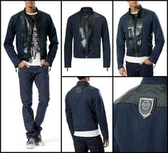 Luxurious leather jacket crafted from the finest croco leather. A precious piece to create exclusive looks. You can´t miss this jet-setter essential. #Luxury  http://www.boudifashion.com/new-in-designer-fashion/philipp-plein-crips-navy-jacket.html  #PhilippPlein #BoudiFashion #Jackets #Luxury #Leather #Celebs #UK #Shopping #BuyFashion #DesignerClothing #Navy #Style