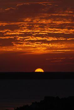 Setting sun, Ocean City, Maryland