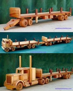 Plan# 284 Scale Model Series 1 27 Australian Road Train Prime Mover The real McCoy in Australian trucking This model has it all a detailed radiator gearbox tail shaft single seat even a steering wheel on the right side Wooden Toy Plans Wooden Projects, Wooden Crafts, Wooden Diy, Diy Projects, Woodworking Toys, Woodworking Projects, Youtube Woodworking, Wooden Toy Trucks, Wood Toys Plans