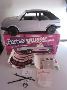 Barbie Volkswagen Golf Convertible by Mattel, 1984