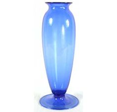Venini Blue Soffiati Murano Art Glass Vase