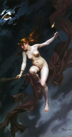 'The Witches Sabbath aka Muse of the Night' (1880) by Luis Ricardo Falero, 1851–1896.