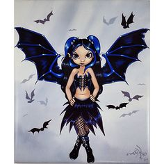 Bat Wings Art Tile Jasmine Becket Griffith 10 x 8 inch Fairy Fantasy m – Romeo et Juliet