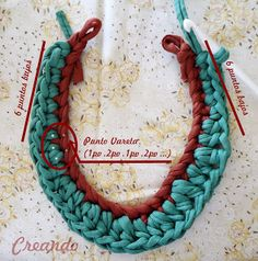 Creando: Collar de trapillo con perlas cosidas