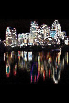 """Austin Night time skyline - beautiful, quirky, """"everything to do"""", laid back city! It will be fun going back for good.. - Explore the World with Travel Nerd Nici, one Country at a Time. http://TravelNerdNici.com"""
