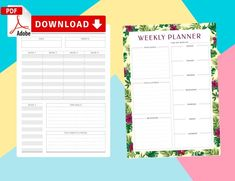 This collection of Weekly Quotes Templates will help you in saving your time. Easy and affordable way to organize your life! Create an Easy Breezy life! Weekly Hourly Planner, Weekly Planner Template, Goals Planner, Goals Template, Quote Template, Goals Printable, Printable Planner, Calendar Organization, Best Planners