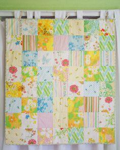 lovely vintage sheet quilt