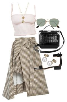 """""""Untitled #23528"""" by florencia95 ❤ liked on Polyvore featuring Adeam, Ray-Ban, Aspinal of London, Gianvito Rossi and London Road"""