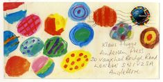 ¤ Artful mail from book illustrator Nikala Catlow to his publisher.