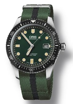 Oris Divers Sixty-Five Watch With Green Dial Watch Releases Sportovní  Hodinky fec2db0b0b5