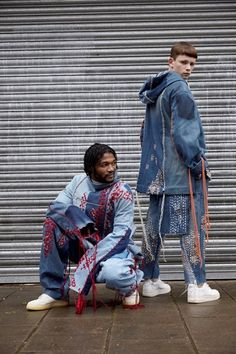 Bethany Williams is boosting fashion's eco-credentials Menswear Recycled Fashion, Recycled Denim, Denim Fashion, High Fashion, Fashion Women, Textiles, Estilo Grunge, London College Of Fashion, All Jeans