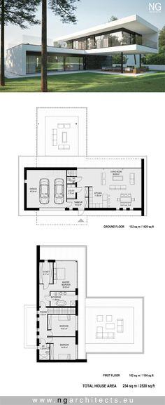 Modern villa in Kaunas by NG architects www.ngarchitects.eu