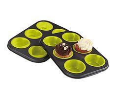 Set de 2 moldes de silicona para cupcakes