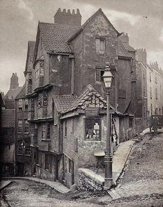 Steep St and Trenchard St, Bristol, 1866.