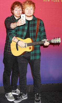 Ed Sheeran snaps a selfie with... Ed Sheeran