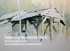 Beginning watercolor tip 4: Keep it simple to start