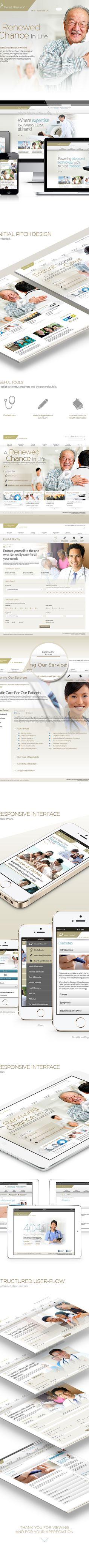 Mount Elizabeth Hospital Website  by Daniel Ng, via Behance