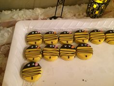 Covered Bee Oreos - Mother To Bee Baby shower