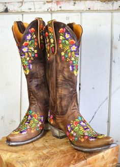 . . . and wear colorfully painted boots.