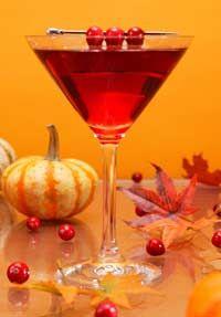 Gobble-tiniIngredients:- 11/2 oz Smirnoff cranberry twist vodka- 1/4 oz Chambord- 1/2 ozcranberryjuice- 1 tsp lemon juiceGarnish: 3cranberrieson stickMix all ingredients in a cocktail shaker with ice. Strain into a chilled martini glass. Garnish with 3 cranberries on stick.  Hello November!