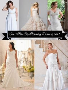#plussize #wedding #dresses {Best of 2013} Top Plus Size Wedding Dresses of 2013 | The Pretty Pear Bride http://prettypearbride.com/best-of-2013-top-plus-size-wedding-dresses-of-2013/