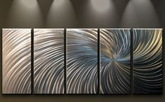 Metal Wall Art Abstract Contemporary by MatthewsGalleryArt on Etsy, $199.00